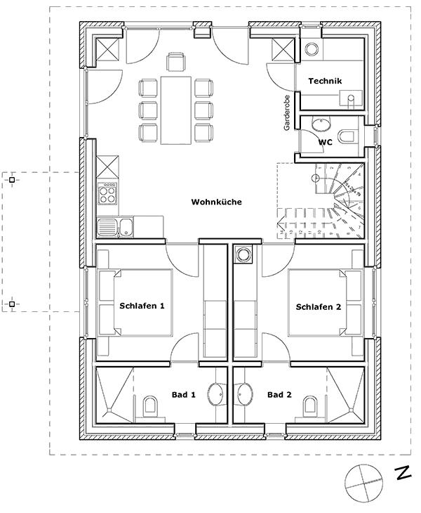Ferienhaus-Halligwarft-Erdgeschoss